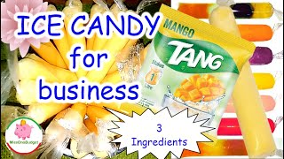 Gambar cover MANGO ICE CANDY made of powdered juice (Tang) for small business ❤️ MissOnaBudget