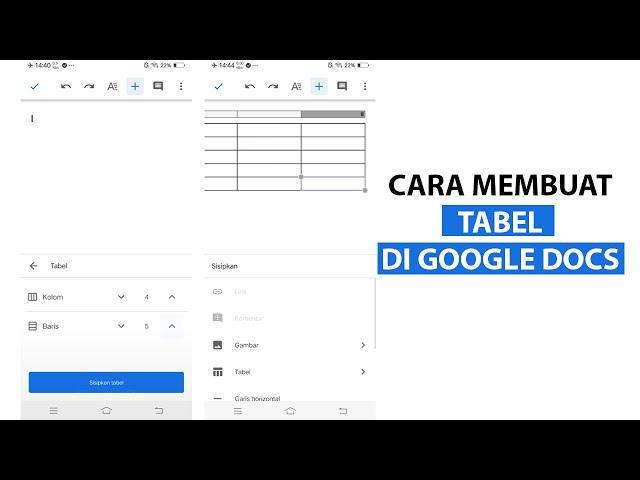 Cara Membuat Tabel di Google Docs