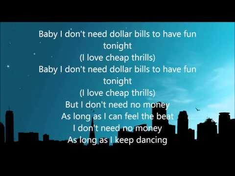Sia - Cheap Thrills ( Lyrics )