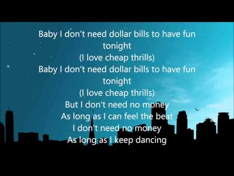 Sia Cheap Thrills  Lyrics