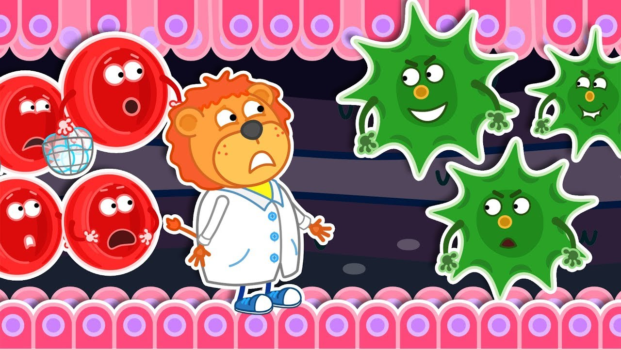 Lion Family ⛑️ Wash Your Hands: Immunity vs Bacteria Cartoon For Kids