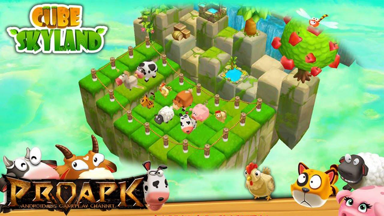 Uncategorized Skyland Games cube skyland farm craft gameplay ios android youtube