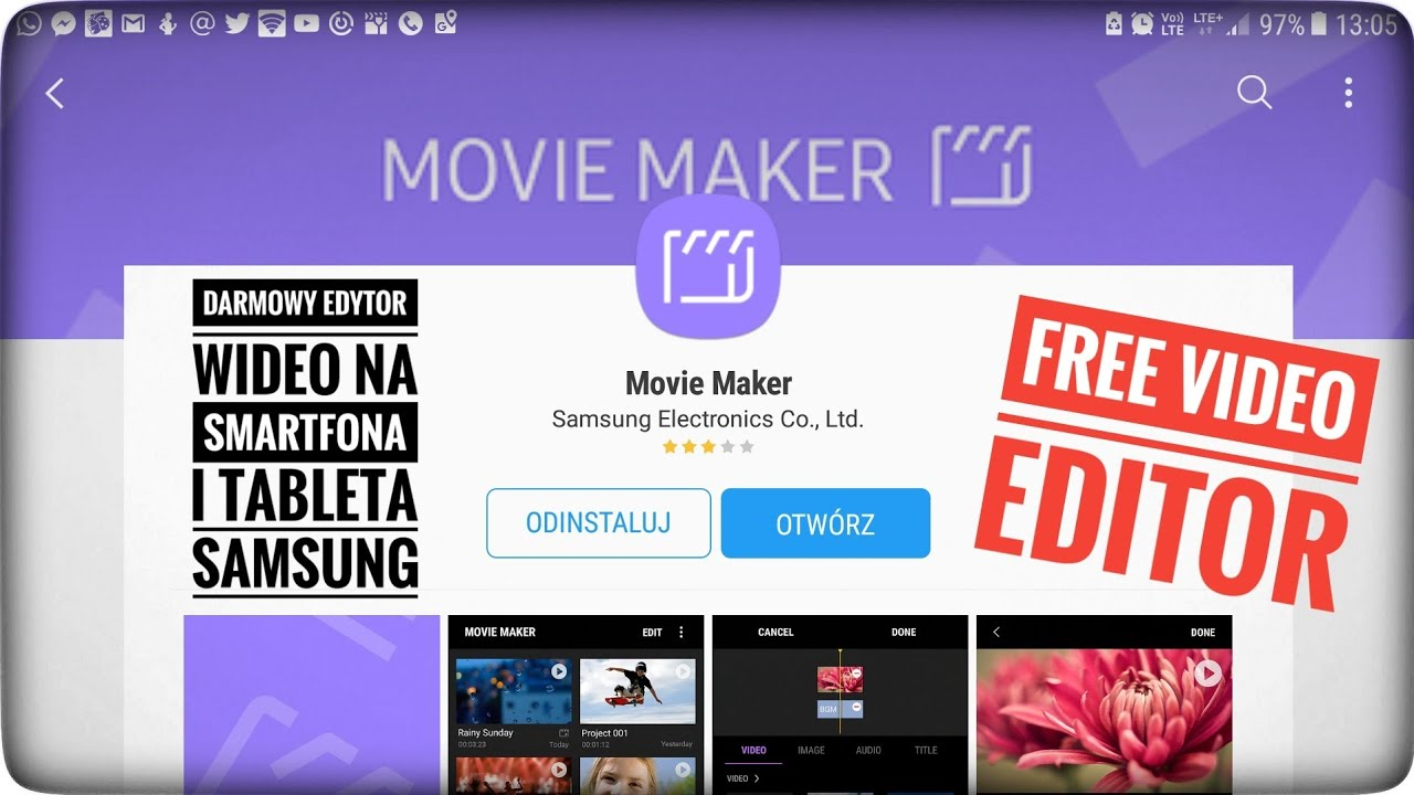 Samsung Movie Maker Free Video Editor (Smartphone & Tablet)