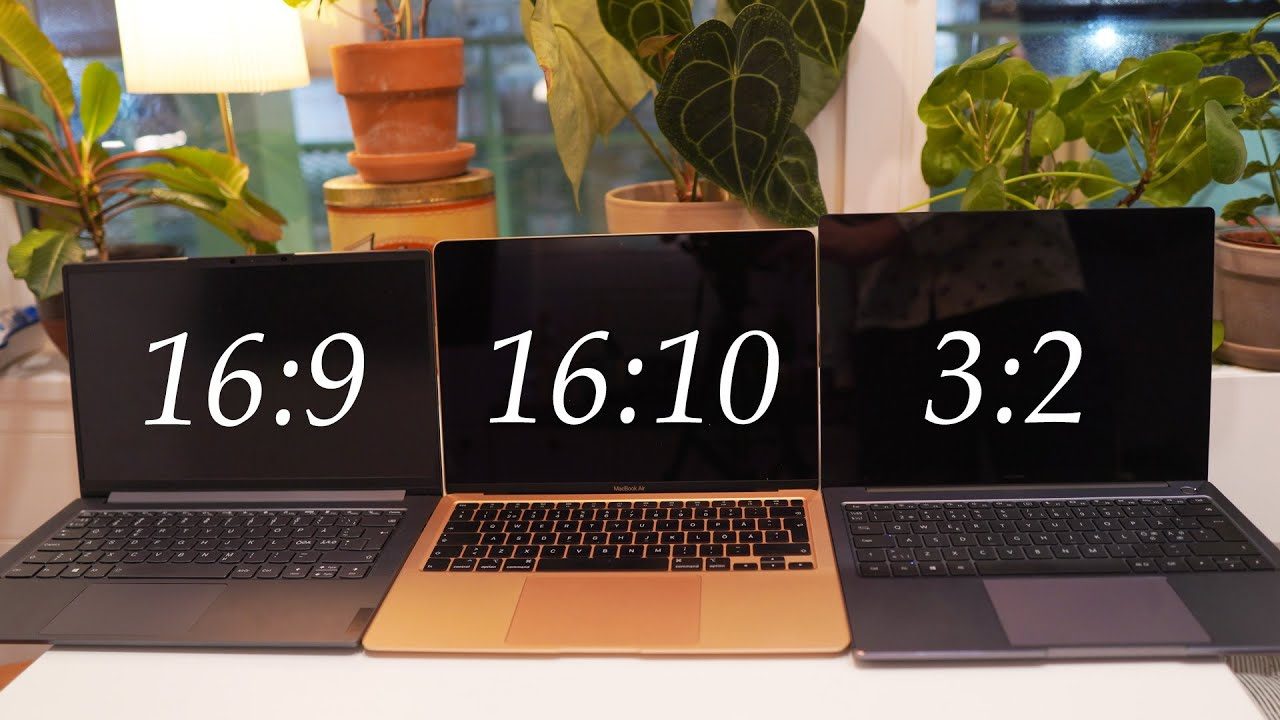 Download 16:9 vs 16:10 vs 3:2 Laptop Aspect Ratio Comparison - Which one should you get?