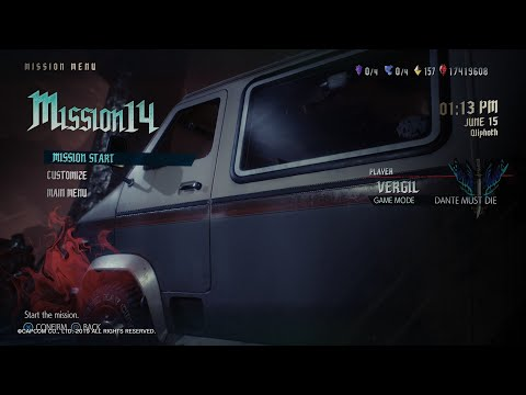 Devil May Cry 5 - Vergil DLC - Mission 14 - Dante Must Die - No Damage |