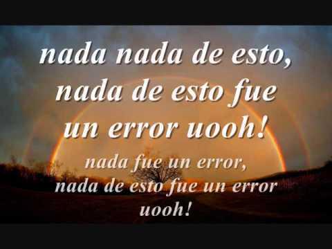Nada Fue Un Error - Coti, Julieta Venegas & Paulina Rubio (Letra)