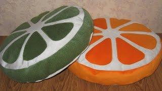 DIY: подушки Апельсин и Лайм / Идеи декора / Как сшить подушки для стульев.(Привет любителям шитья! Сегодня МК по пошиву подушек для стульев. Эти подушки я сшила для детского кафе...., 2015-12-12T16:40:56.000Z)