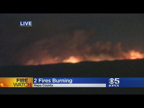 ATLAS PEAK FIRE:  A massive wildfire erupts on Napa County's Atlas Peak