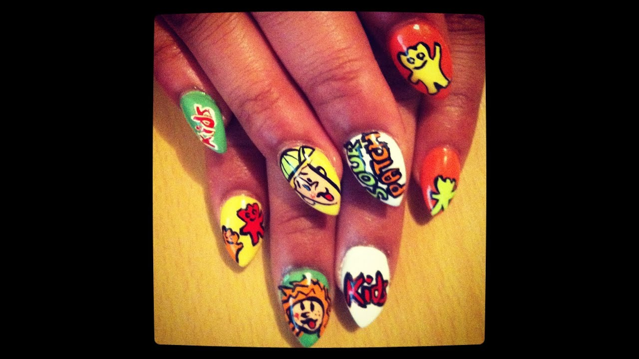 ◊Sour Patch Kid Stiletto Nails◊ - YouTube