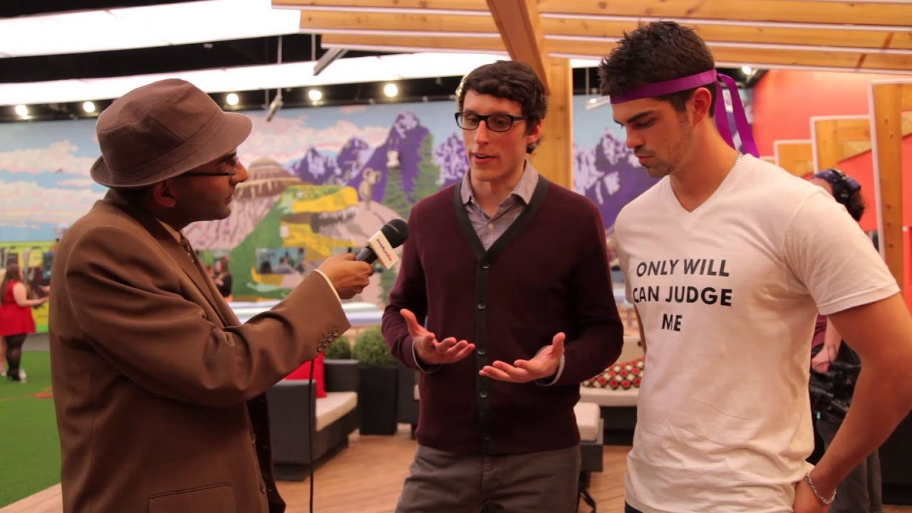 Jaffer Interviews Peter Brown & Alec Beall In Backyard At Big Brother