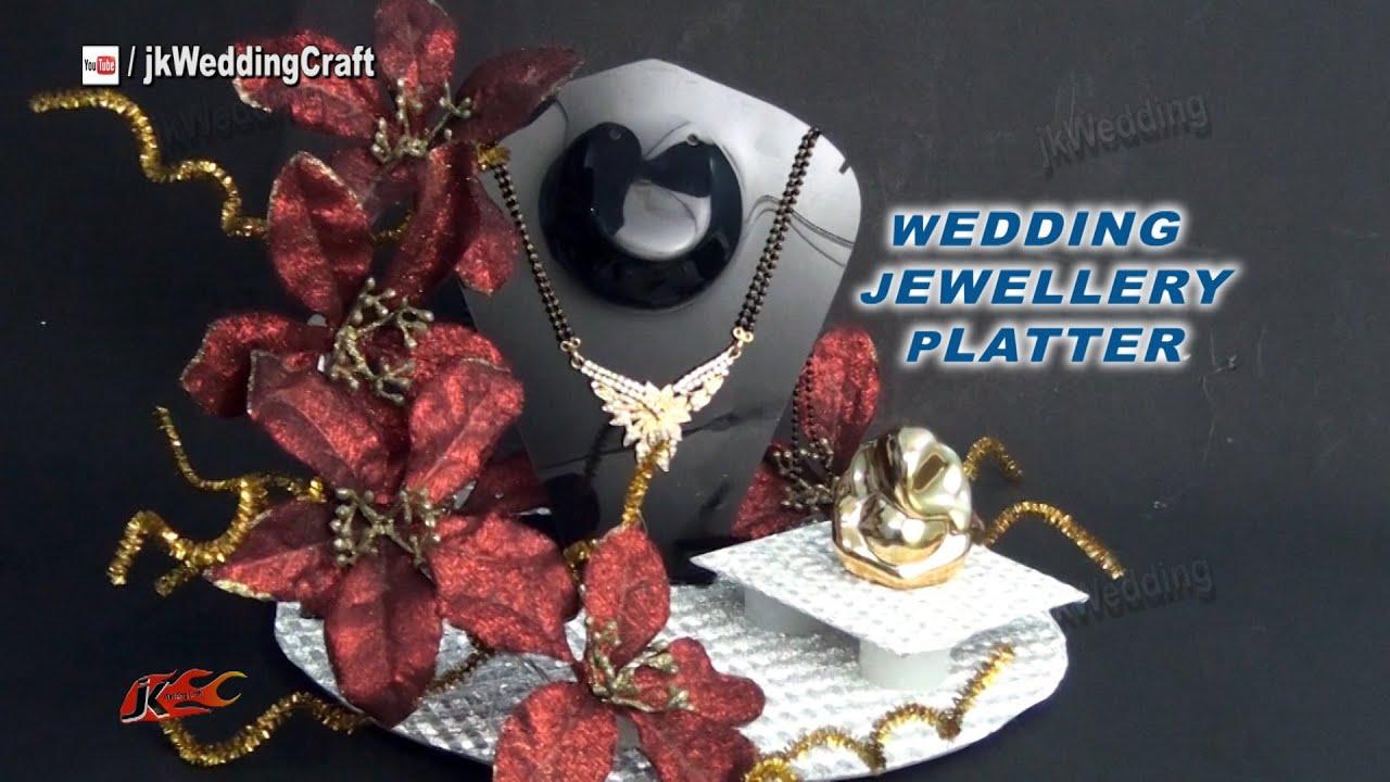indian wedding jewellery platter tray trousseau packing ideas