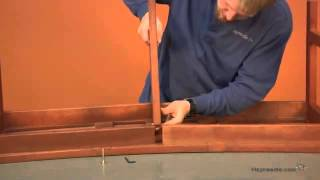 Assembly Video Arbor Curved Wood Backless Bench - Natural