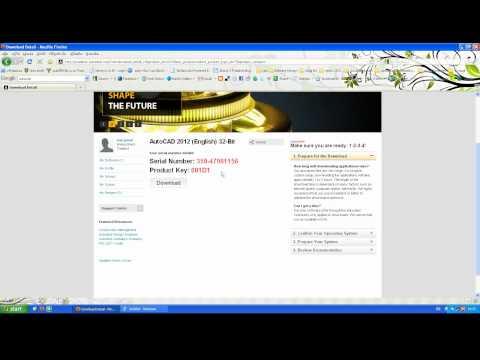 วิธีดาวน์โหลด Autocad 2012 ฟรี.avi