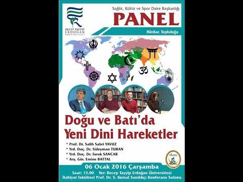 Yeni Dini Hareketler Paneli, 06.01.2016, Rize