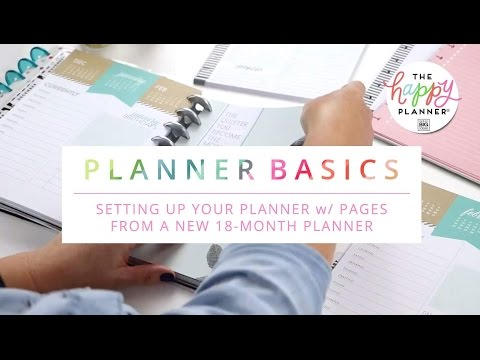 Planner Basics // Stephanie Fleming's Personal Happy Planner® Set-Up!