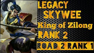 Legacy Skywee [ Top 2 Global Zilong ] Eastern Warrior Gameplay and Builds #Mobile Legends