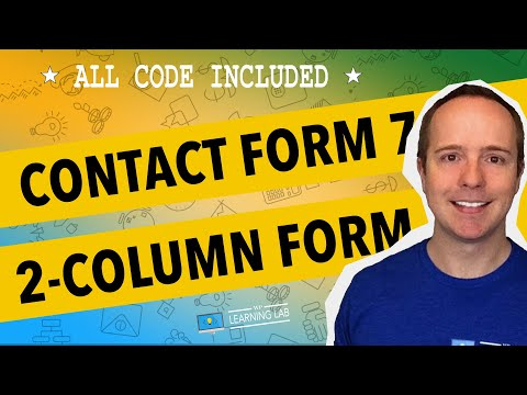 Contact Form 7 Tutorial - Create a 2-Column Responsive Form With Contact Form 7   CF7 Tuts Part 4