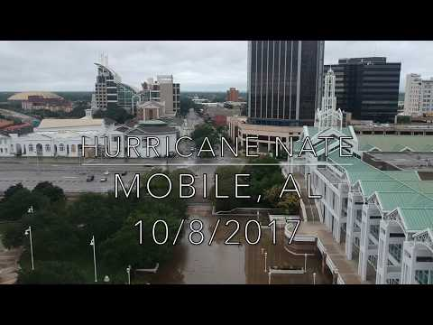 Hurricane Nate Downtown Mobile, AL October 8, 2017 with DJI Spark drone.