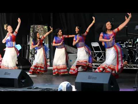 Leela Dance Group Downtown Bhangra Festival 2014 June 7 outside the Vancouver Art Gallery VIBC
