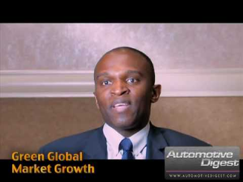 """Mike Omotoso of JD Power and Associates """"Green Glo..."""