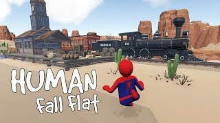 Human Fall Flat - The Wild Wild West [Workshop] - Gameplay, Walkthrough
