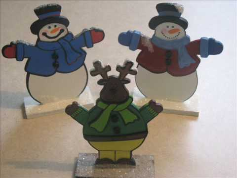 Painted Wood Ornaments From Michaels