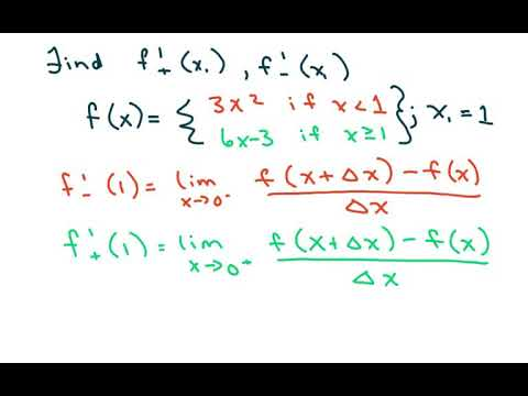 Find The Derivative Of a Piecewise Defined Function at f(1)