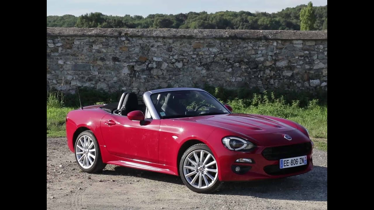 essai fiat 124 spider multiair 140 lusso plus 2016 youtube. Black Bedroom Furniture Sets. Home Design Ideas