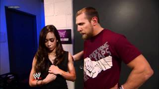 Friday Night SmackDown - Daniel Bryan informs AJ that he will be in her corner for an important Divas match - SmackDown