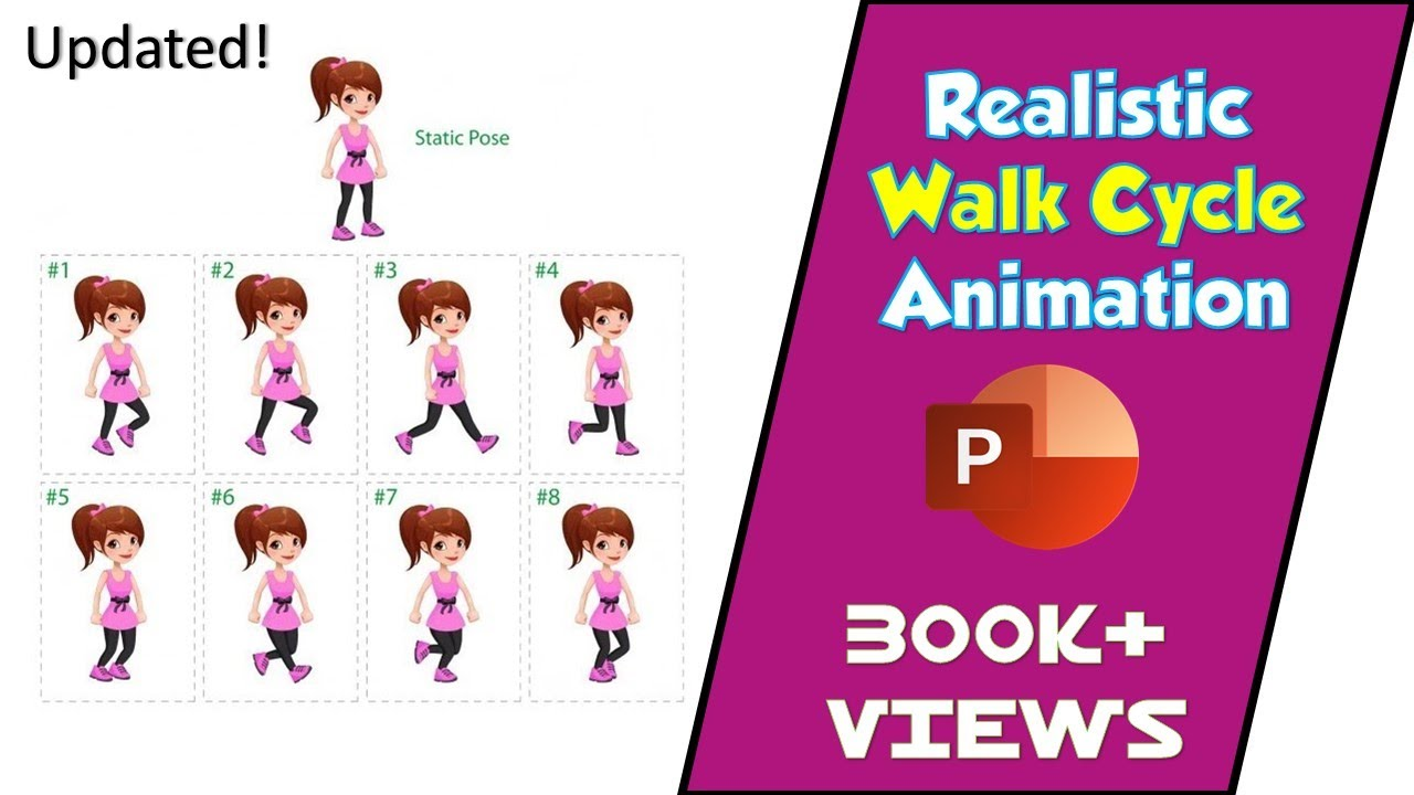 Updated How To Make Realistic Walk Cycle Animation In Powerpoint 2016 Tutorial Youtube