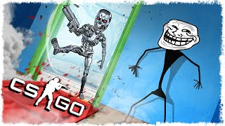 ЗЛОЙ ТЕРМИНАТОР vs ТРОЛЛЬ В CS:GO!!!