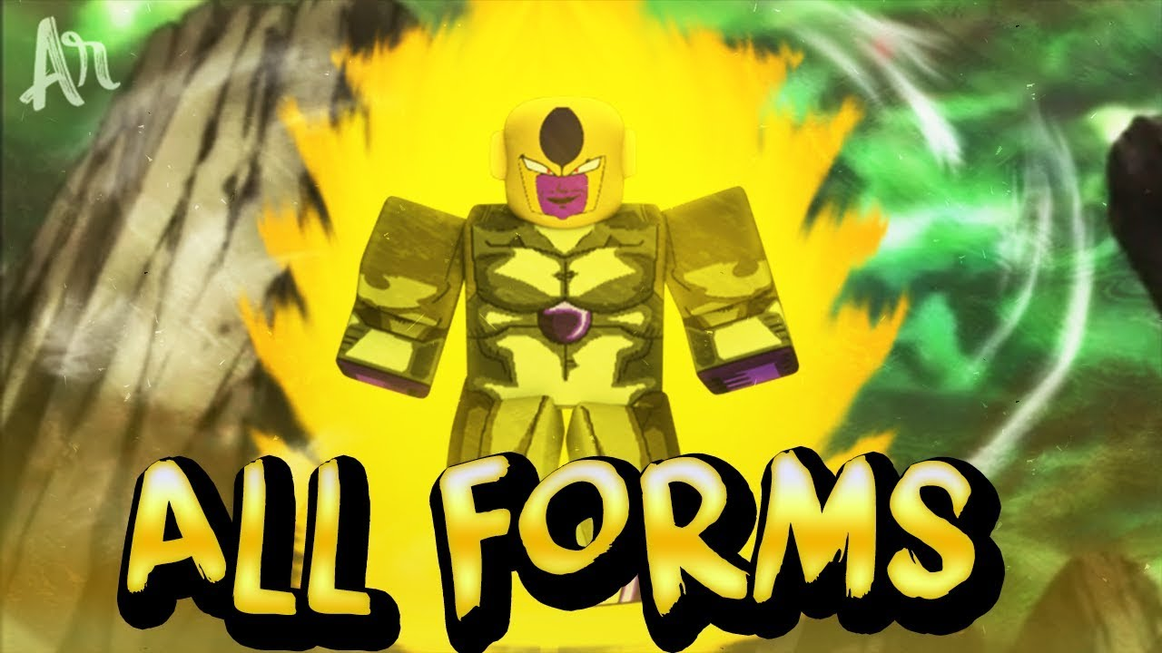 all frieza race forms including true golden in roblox dragon ball z