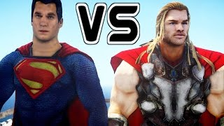 SUPERMAN VS THOR - EPIC SUPERHEROES BATTLE