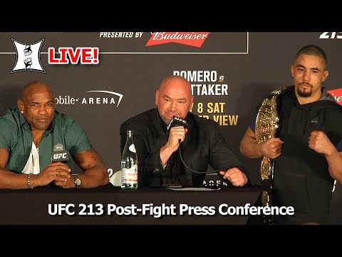 UFC 213 Post-Fight Presser: Interim Champ Whittaker, Romero, White, Overeem, Pettis (LIVE!)