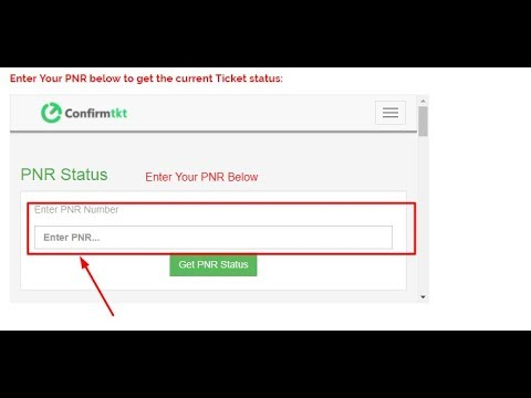 Check PNR Status Live| Train Ticket Confirmation| Find PNR