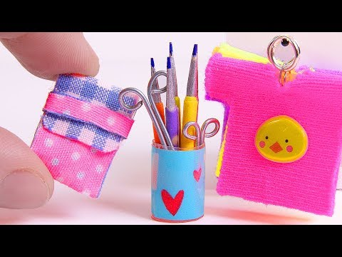 DIY Miniatures School Supplies and more