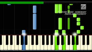 DEPECHE MODE - SOMEBODY - SYNTHESIA (PIANO COVER)
