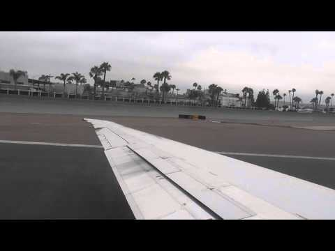 American Airlines Flight #872 SAN-DFW On 7/2/13 MD83  N969TW Taxi, And Takeoff