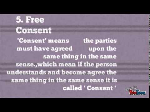 Essential Elements Of A Valid Contract  Youtube