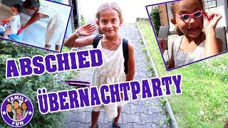 MILEYS ABSCHIED ÜBERNACHTPARTY ALLEINE Vlog #96 Our life FAMILY FUN