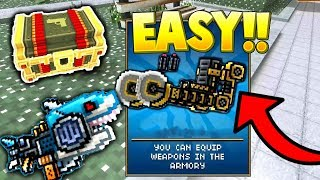 Pixel Gun 3D - How To Get All Exoskeletons and Spark Shark using this CHEAT!