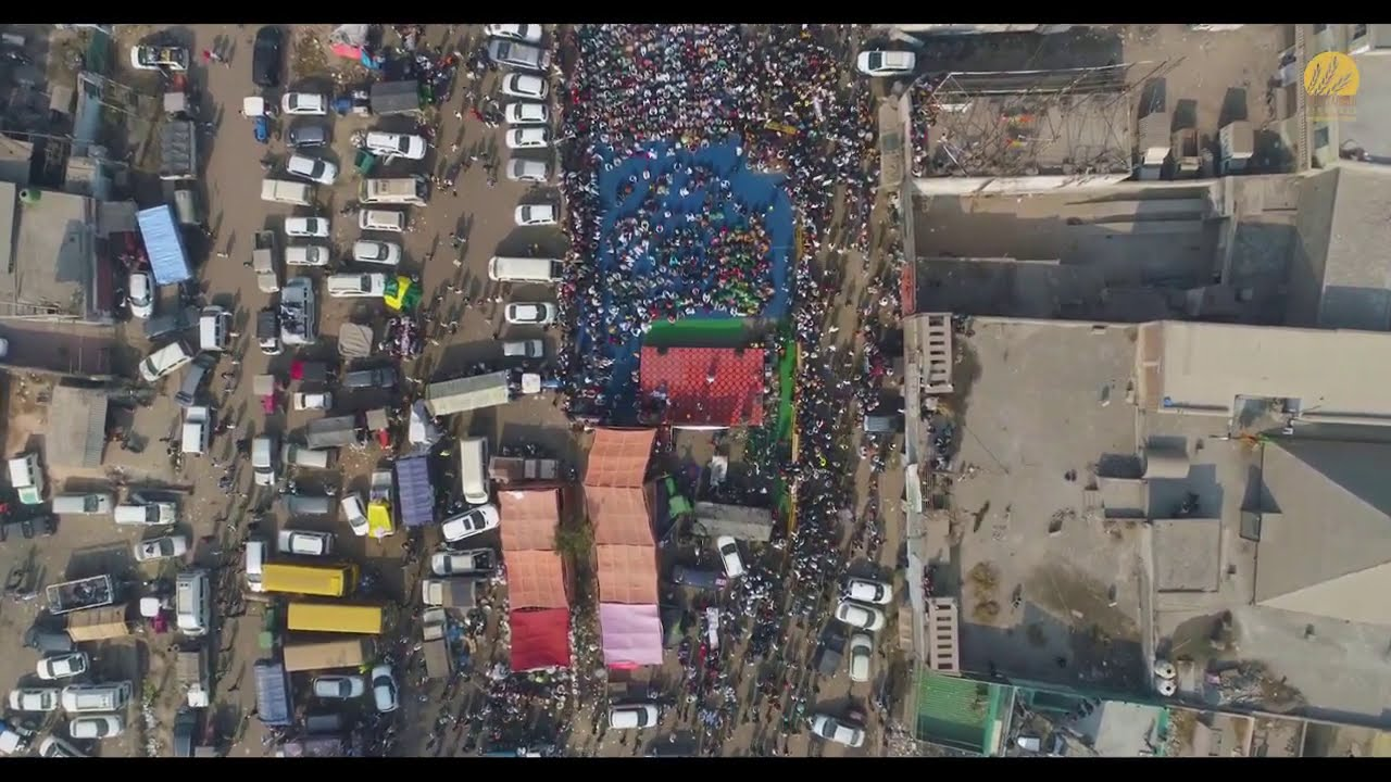 DRONE View Of DELHI MORCHA | What is Being Called The Biggest Protest in  History - YouTube