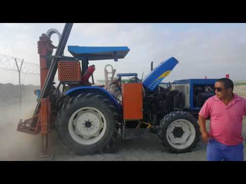 HD-T100 tractor drilling rig in seismic data acquisition system project