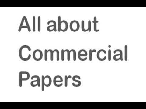 All about Commercial Paper