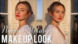 Natural Holiday Make-Up Look In France | Red Lip Love Paris Edition | Sanne Vloet