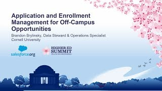 Application and Enrollment Management for Off-Campus Opportunity