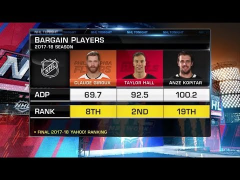 NHL Tonight:  Fantasy Bargains:  Who could be the best fantasy bargain picks?  Sep 25,  2018