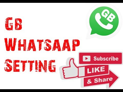 Gb Whatsaap Setting