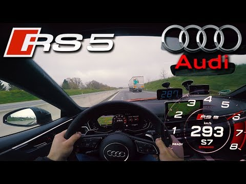 EPIC !!! 2018 Audi RS5 (0-295 Km/h) TOP SPEED, Acceleration TEST✔