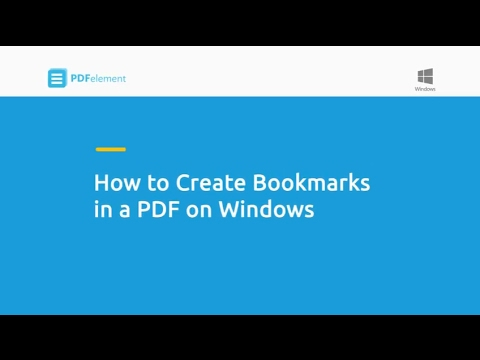 How To Create Bookmarks In A PDF On Windows